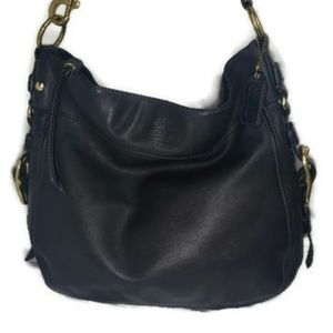 Coach Zoe Large Handbag Black Leather Hobo Bag